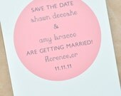 Vintage Wedding Save The Date Cards in Soft Pink