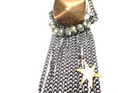 Chain Fringe. Star Charm Necklace