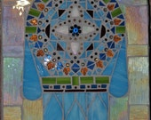 Hand of God, Hamsa Stained Glass Mosaic
