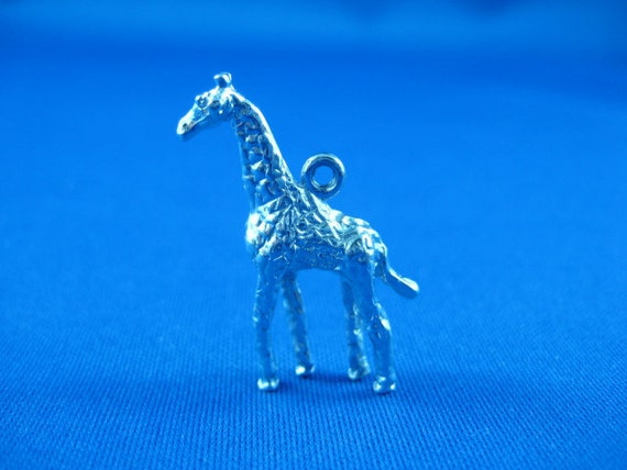 Giraffe Animal Charm in Sterling Silver