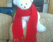 Cherry Love - Red Bulky Super Soft Scarf