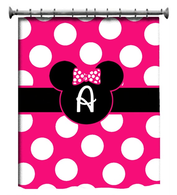 Items Similar To Custom Minnie Mouse Bath Accessories And