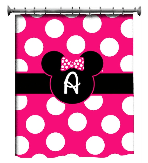 ... to Custom Minnie Mouse Bath Accessories and Shower Curtain Set on Etsy