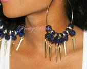Midnight Blue Dazzling Earrings