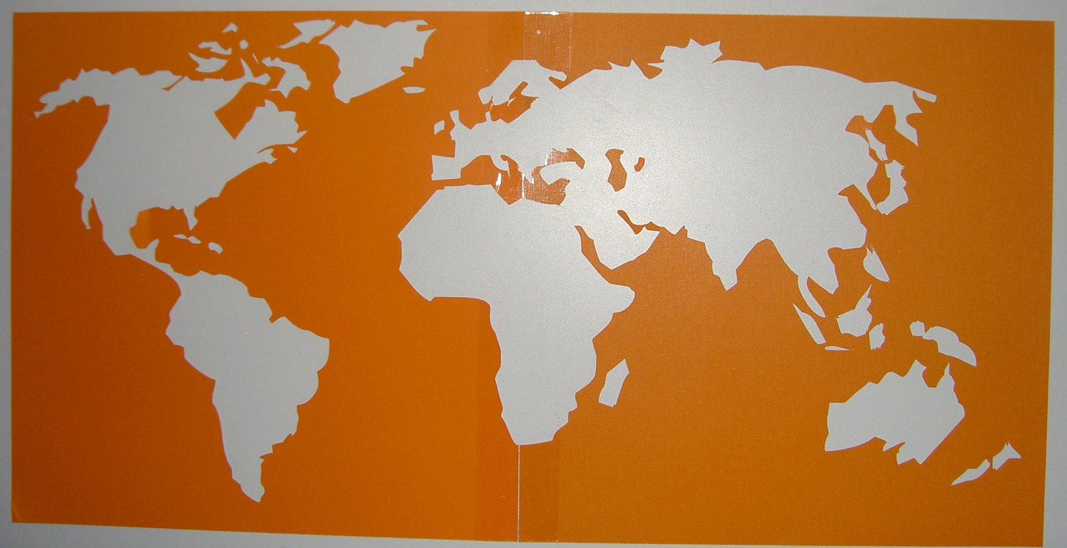 World map stencil by chapmanplace on etsy old world map vinyl fabric world map stencil by chapmanplace on etsy gumiabroncs