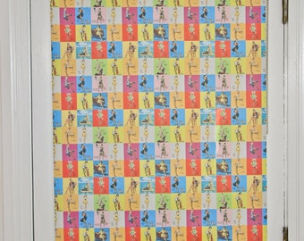 "Pin Up Girl Pattern Window Shade 44.25''- 47"" width"