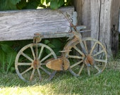 Treasury Item - New for Spring -  Hand crafted 3d bicycle for garden art/container garden/displaying