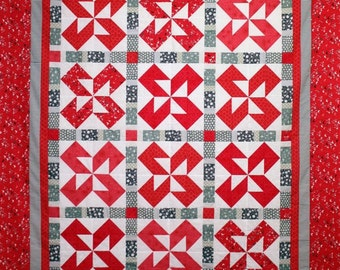 Quilt Pattern  - Raspberry Licorice - PDF Version, original design by Sew Well Maide