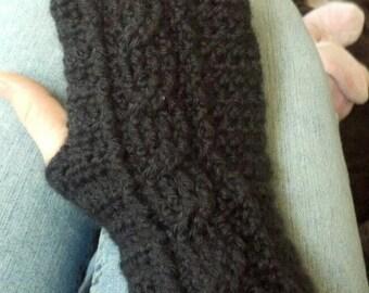 Corded Fingerless gloves-Pattern