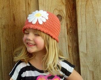 Spring Time Daisy Beanie- PDF pattern