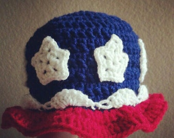 Fourth of July hat PDF pattern