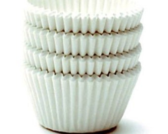 500 JUMBO White Cupcake Liners Papers 2-1/4in