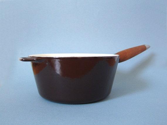 Michael Lax Copco Brown Enamel 1.5 - 2 Qt. Saucepan or Pot
