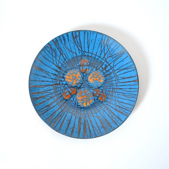 Annemarie Davidson Grooveline Enamel on Copper Plate