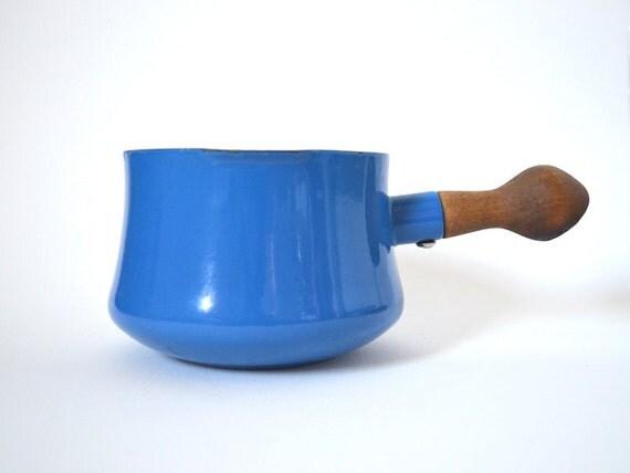 Large Dansk Kobenstyle Blue Pot - Saucepan or Butter Warmer
