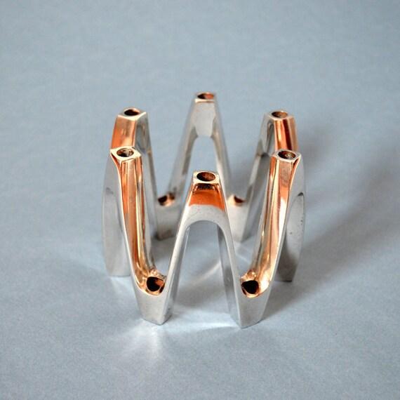 Dansk Silver Plate Crown Candle Holder Designed by Jens Quistgaard