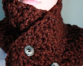 Cabernet Red Handmade Chunky Neck Warmer Scarf