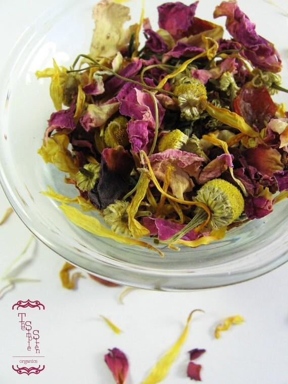 Organic Herbal Tea - The Iron Rose Organic PMS Tea - For Cramps & Nausea - Signature Blend