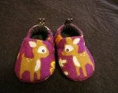 deer baby shoes- reversible, soft sole