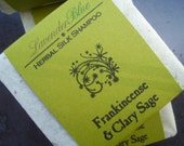 Frankincense and Clary Sage Herbal Silk Shampoo Bar - herbalist formulated - handmade in BC, Canada - silk and jojoba