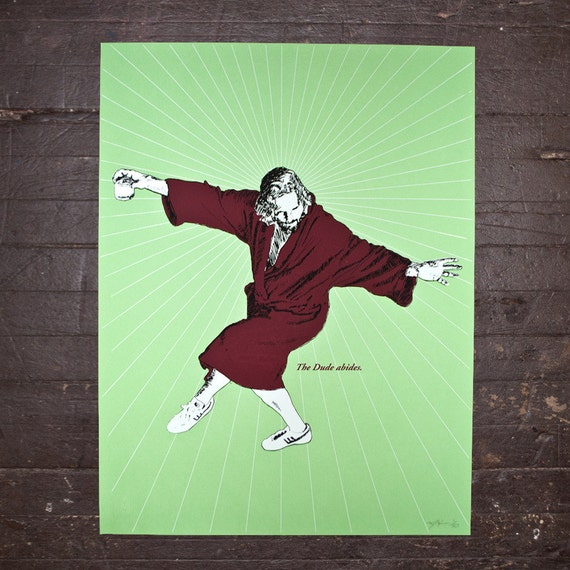 The Dude - The Big Lebowski Limited Edition Screen Print