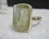 Sterling Silver stone Ring -  Quartz -  Sterling silver jewelry - Handmade jewelry - Nugget stone - Quartz ring