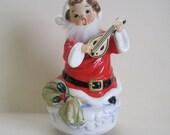Vintage Santa Rotating Musical Figurine