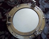 Solid Brass Nautical Port Hole mirror