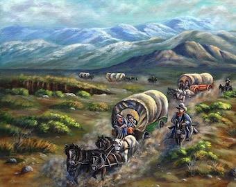 Wagon Train Limited Edition fine art print