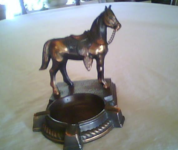 Cast Metal Horse Ashtray, Treasury item
