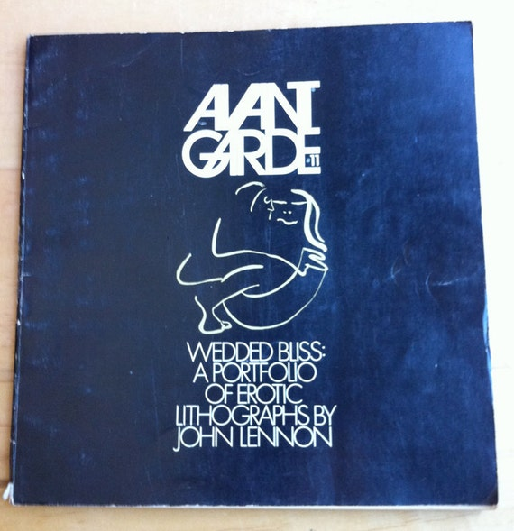 Avant Garde 1970 Wedded Bliss A Portfolio of Erotic Lithographs by John Lennon Free Shipping