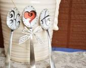Custom Cake Topper Bride Heart Groom