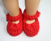 Red Baby Girl Mary Janes Booties Slippers Photo prop Shower gift newborn valentines day shoes