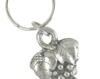 Grape Keychain- Pewter Vineyard and Wine Gifts
