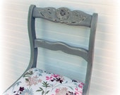 Items Similar To Shabby Gray Distressed Wooden Chair Hand