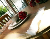 Set of 6 Placemats with Torn Linen Ruffles