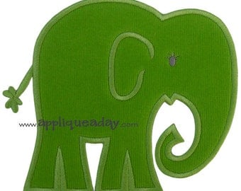 Elephant Applique Design (Machine Applique Embroidery Design) Instant Digital Download by Applique a Day 4x4 5x7 6x10