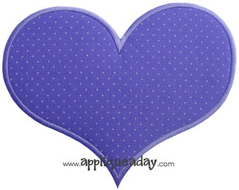 Heart 2 Applique Design (Machine Applique Embroidery Design) Instant Digital Download by Applique a Day 4x4 5x7 6x10