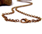 Antique Copper Chain custom length Antique Rolo Copper Necklace