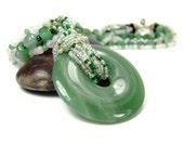 Green Gemstone Necklace, Green Aventurine Necklace, Heart Chakra Gemstone Necklace