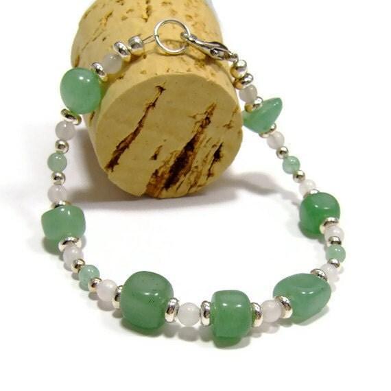 Green Bracelet, Aventurine Gemstone Bracelet, Chakra Bracelet