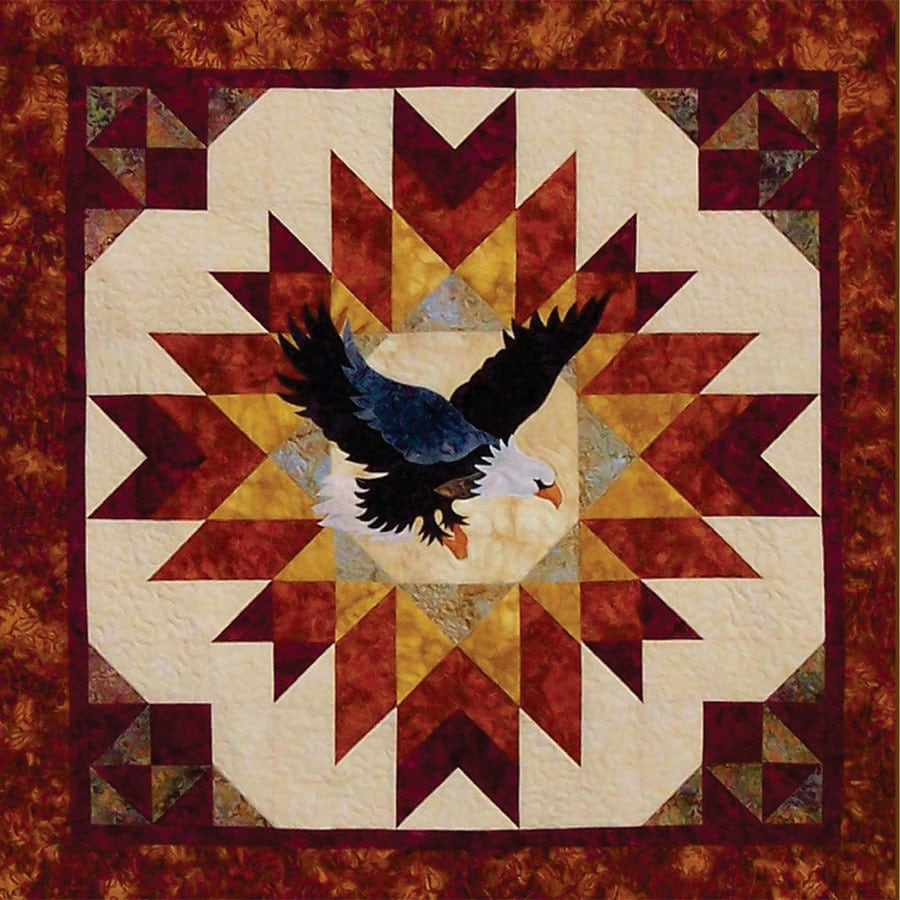 A Blaze Of Glory Eagle Quilt Pattern