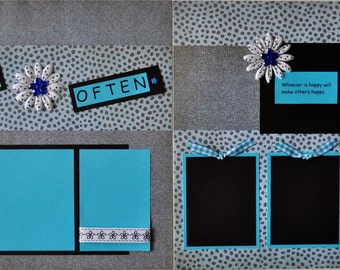 Christian Gifts - Premade Scrapbook Album for Girls Teens - Christian Themed Animal Print - Love Friendship 12X12