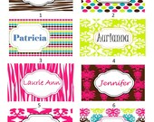 Personalized Luggage Tag-Custom Made-Set of 4 Custom Tags Makes a Great Summer Vacation Souvenir... (Each tag can be different)