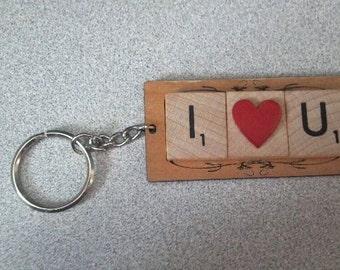 Scrabble Tile Keychain