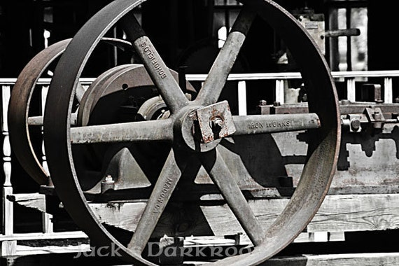Industrial Abstract--Close-up Transverse Shot of an Engine Used by the Koreshan Settlement in the 1890s to Power Belt-Driven Tools.