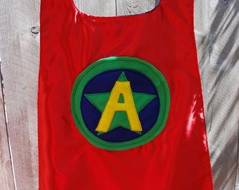 Boys Reversible Personalized Super Hero Cape