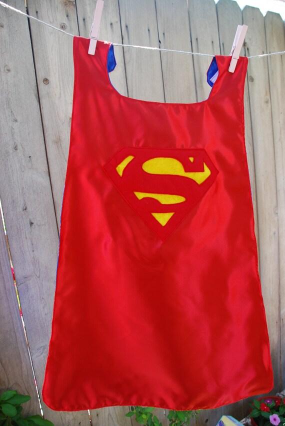 Boys Reversible Personalized Super Hero Cape: Superman