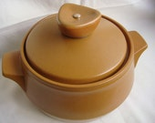 Casserole made by Diana in Australia midcentury modern brown 1950s