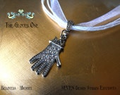 The Gloved One - Rhinestone and Silver plated Pendant Necklace